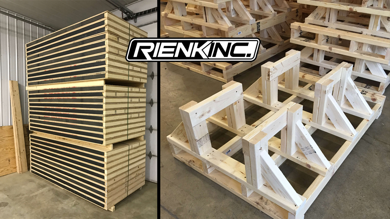 Rienk Inc. provides quality, custom pallets to the Northwest Iowa region. Including being the area's number one lumber dealer
